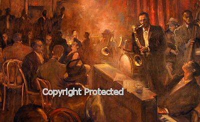 Figurative Painting - Jammin by Ron Anderson