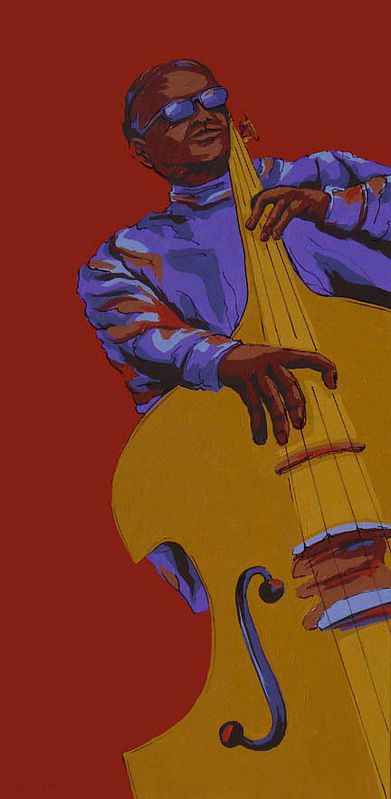 Jazz Painting - Jammin by Sandy Tracey