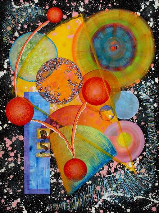 Jammin The Cosmos Painting by Leann Harding