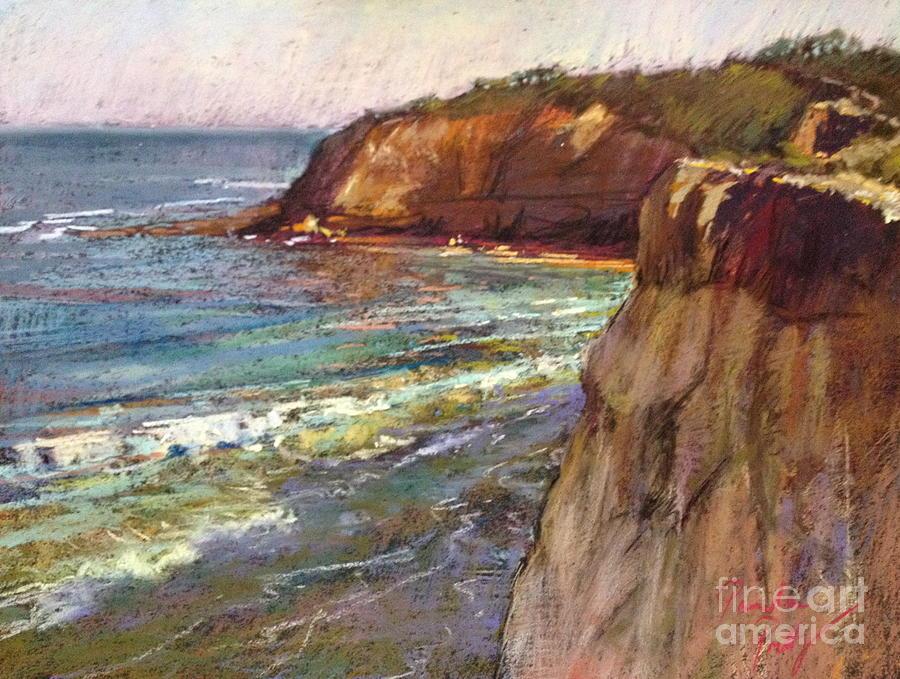 Pastel Seascape Painting - Jan Juc by Pamela Pretty