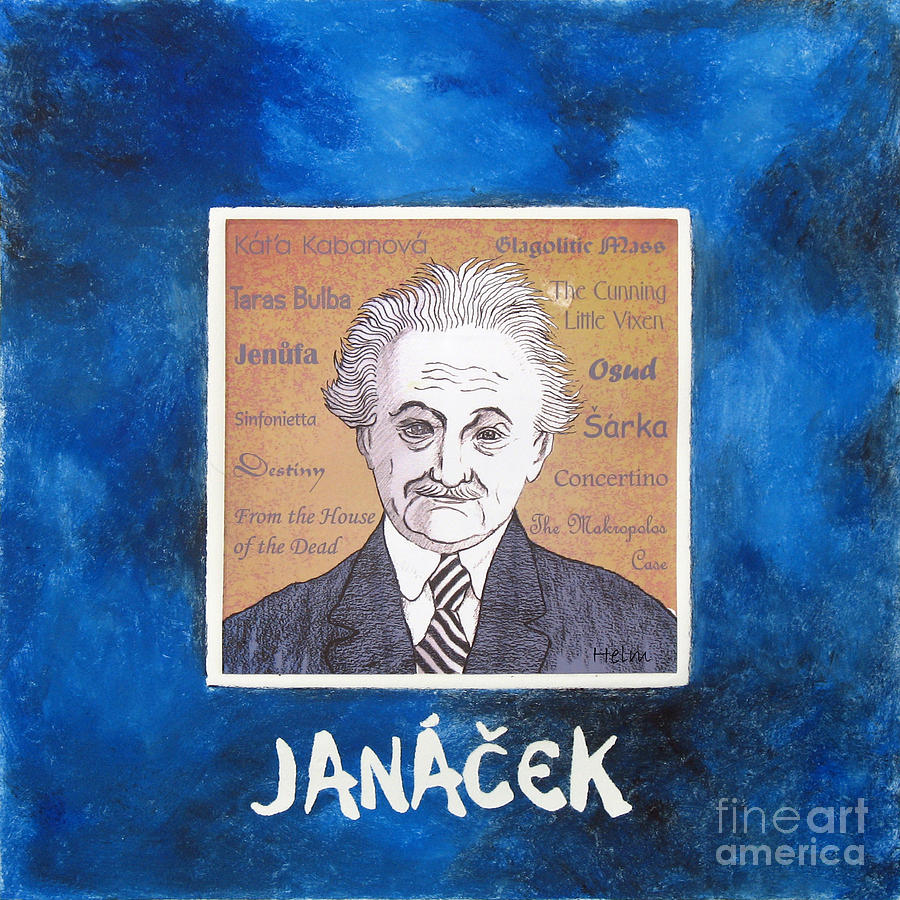 Janacek Mixed Media - Janacek by Paul Helm
