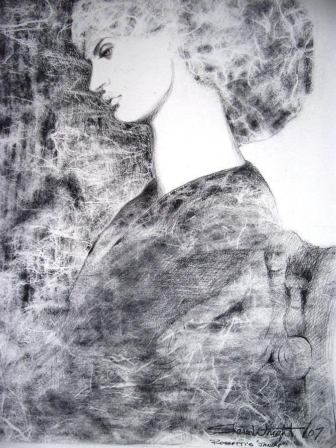 Rossetti Drawing - Janey by Sharon Wright
