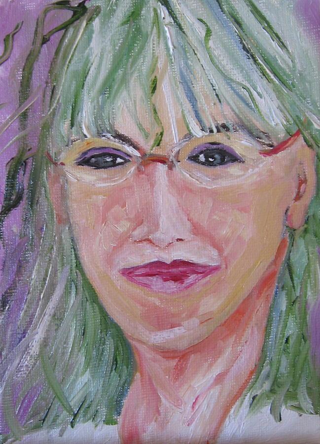 Figurative Painting - Janice Gordon by Debi McSwain
