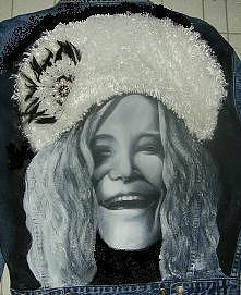 Janis Joplin Painting - Janis Joplin Coat by Janet Gioffre Harrington