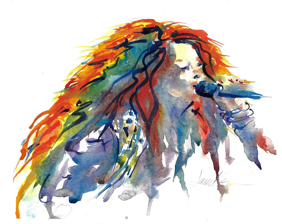 Figure Painting Painting - Janis Joplin by Jacki Kellum