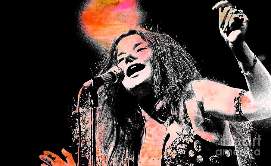 Janis Joplin Painting - Janis Joplin by John Malone