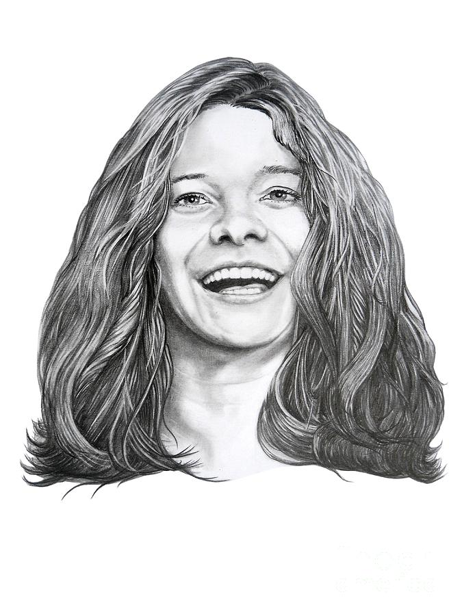 It is a graphic of Epic Janis Joplin Drawing