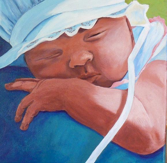 Jans Baby Painting by Cheryl Bosch