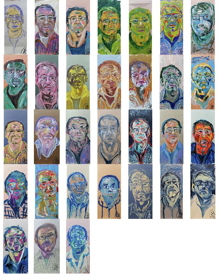 January Bachmors dailyselfportrait .365 self-portraits One Year. by Bachmors Artist