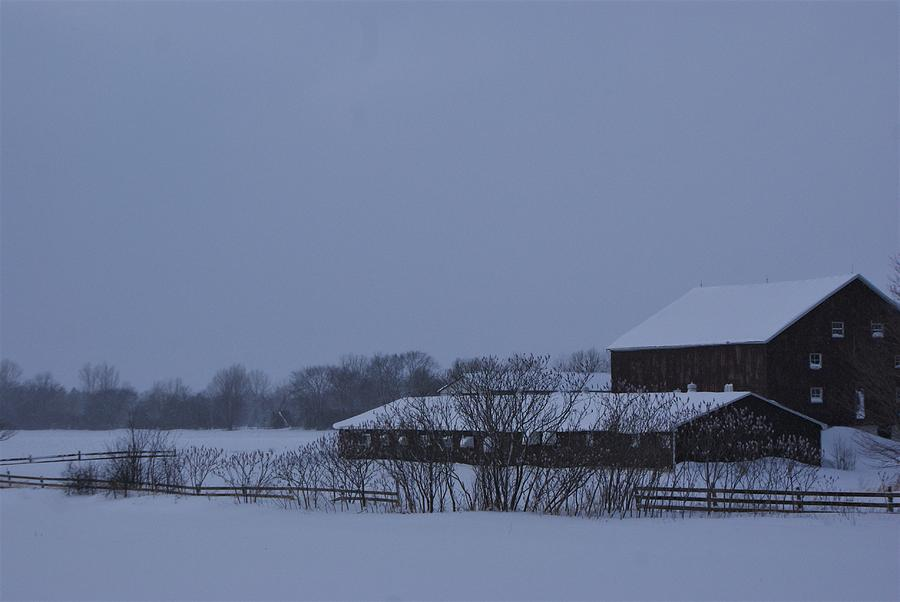January Barn Photograph by The Sangsters