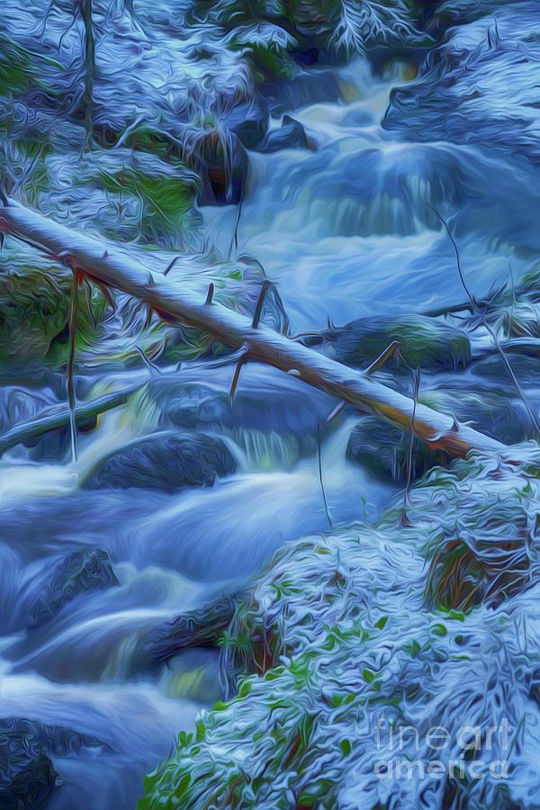 Atmosphere Mixed Media - January Creek by Veikko Suikkanen