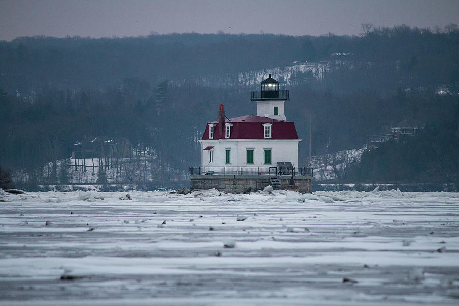 Lighthouse Photograph - January Morning At Esopus Light by Jeff Severson