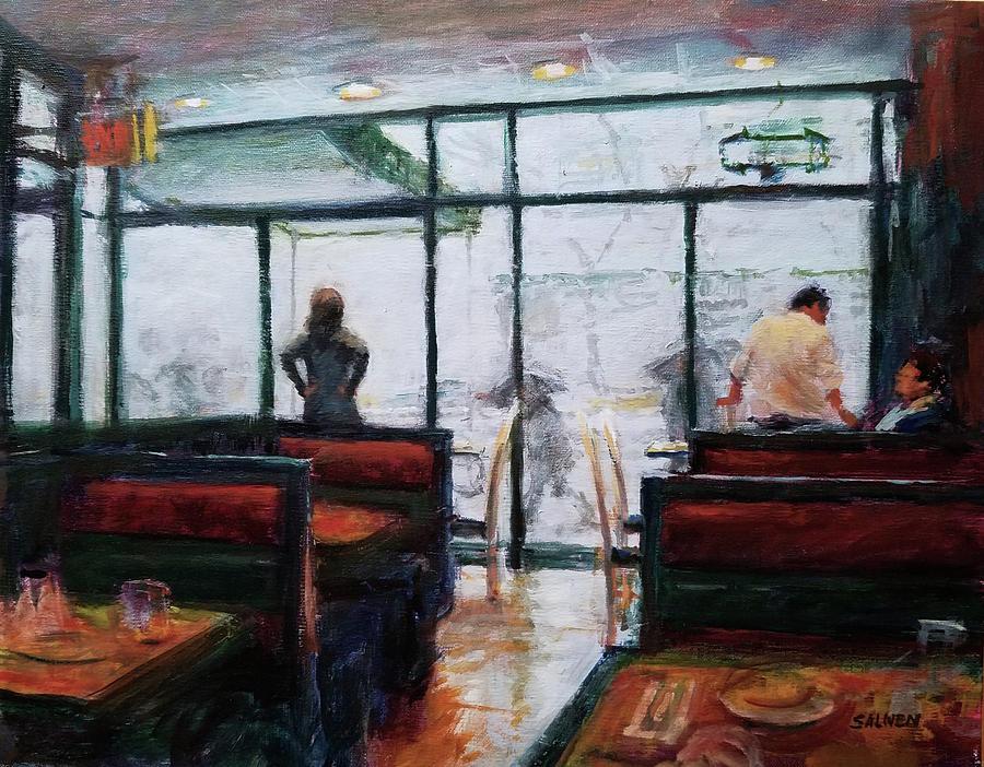 Landscape Painting - January, Morning Break by Peter Salwen