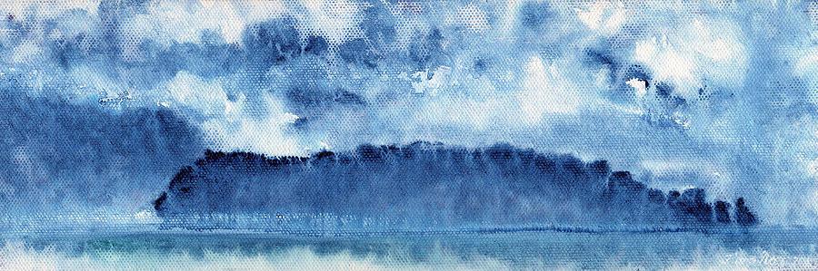 Landscape Painting - January Rain by Fiona Starr