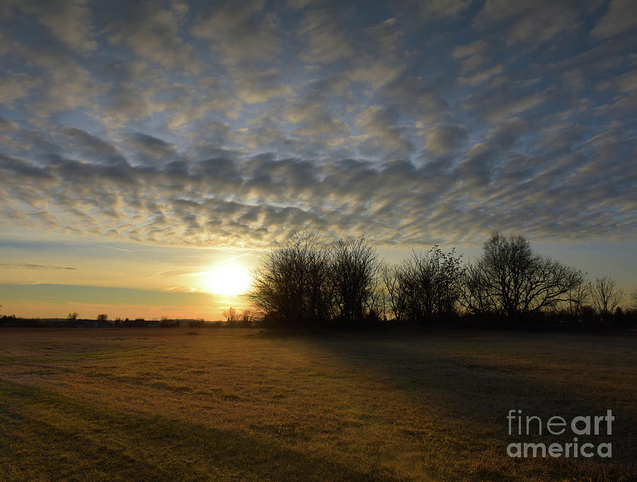 January Sunset by Charles Owens