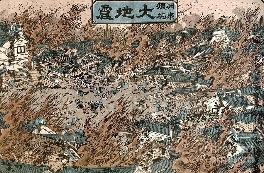 1855 Photograph - Japan: Earthquake, 1855 by Granger