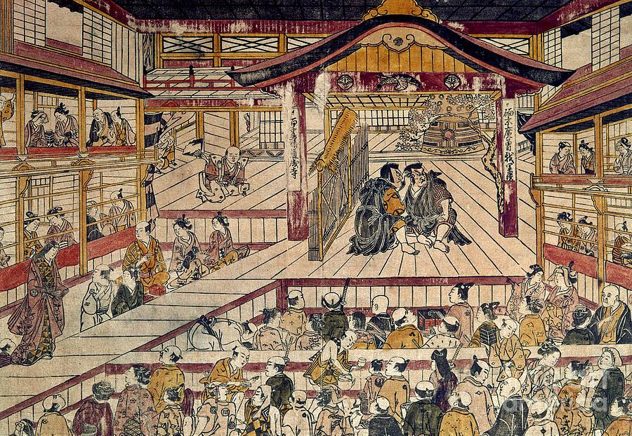 18th Century Photograph - Japan: Kabuki Theater by Granger