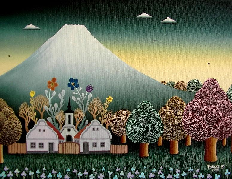 Naive Painting - Japan On My Mind by Ferenc Pataki