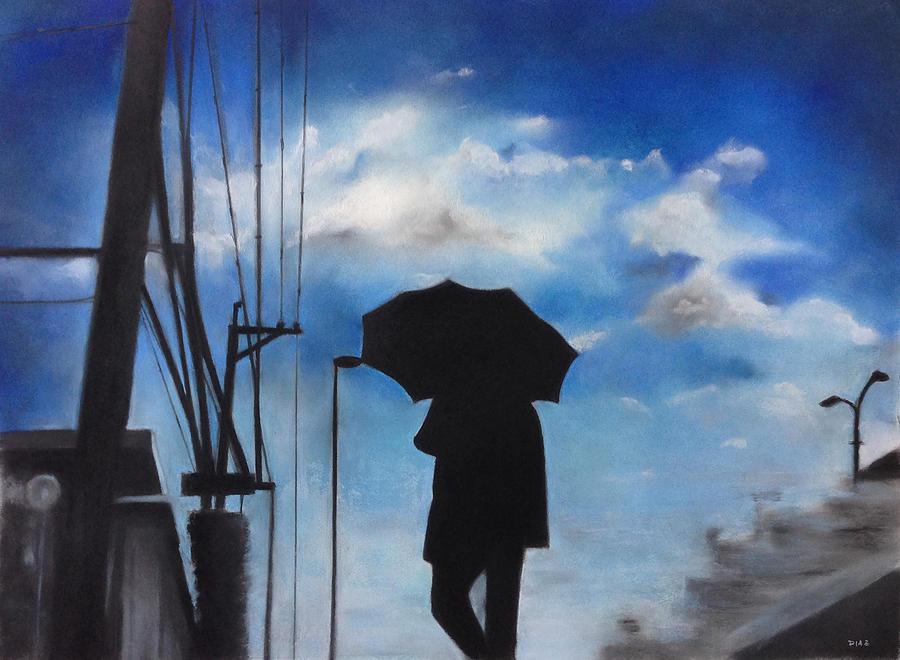 Raining Pastel - Japan Rain by Carrie Diaz