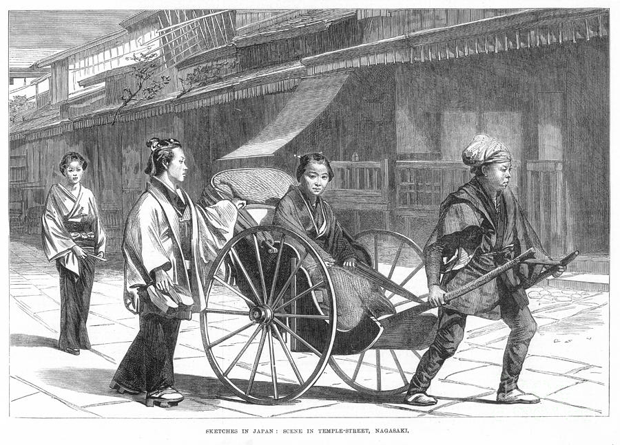 1874 Photograph - Japan: Rickshaw, 1874 by Granger