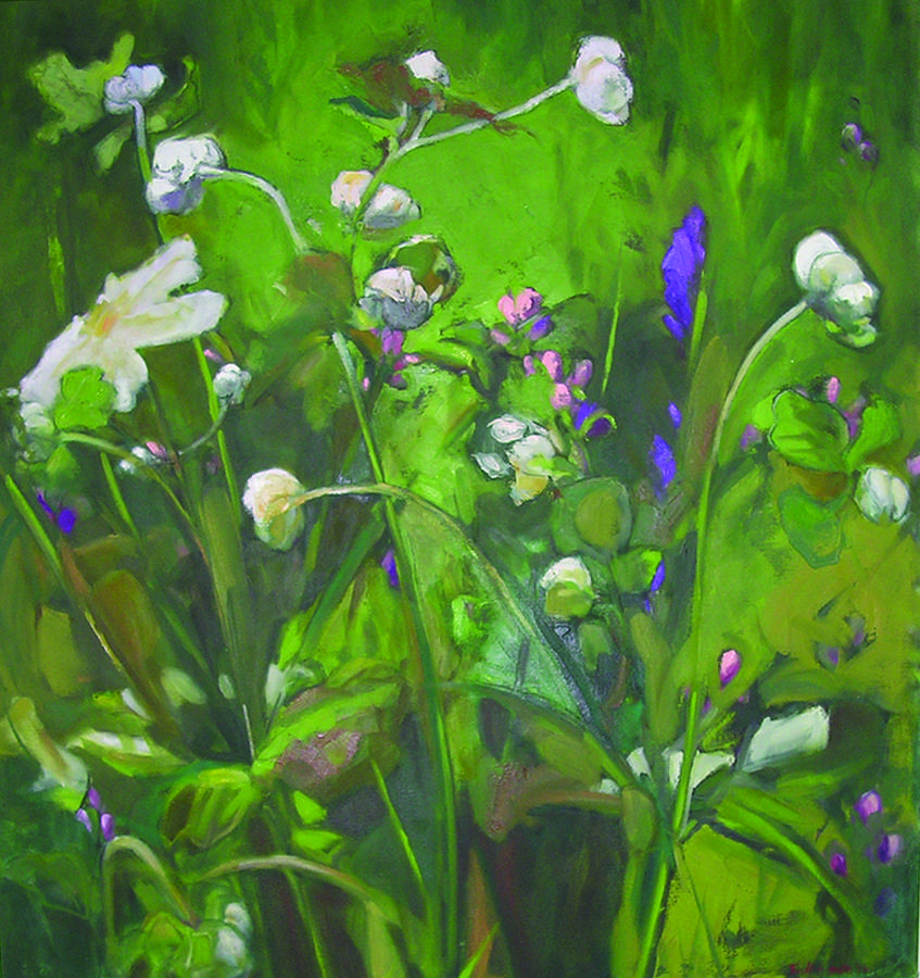 Flowers Painting - Japanese Anemone by Trudi Smith