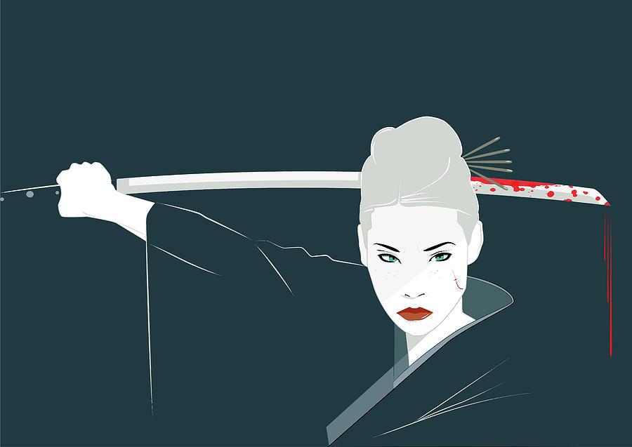 Killbill Digital Art - Killbill - Lucyliu  by ArtMarketJapan