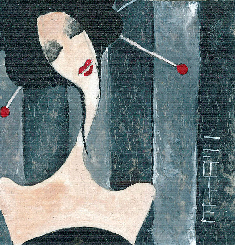 Painting Painting - Japanese Beauty by Maya Manolova