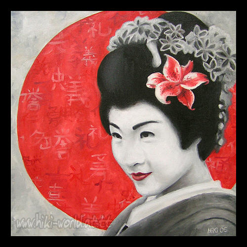 Japanese Beauty Painting by Pia HiKi