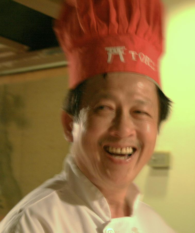 Close Up Photograph - Japanese Chef by Joshua Sunday