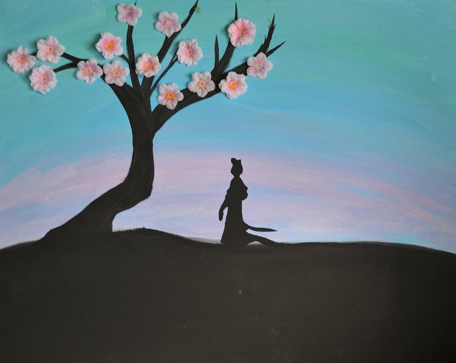 Mulan Painting - Japanese Cherry Blossom by Morgan McLaren