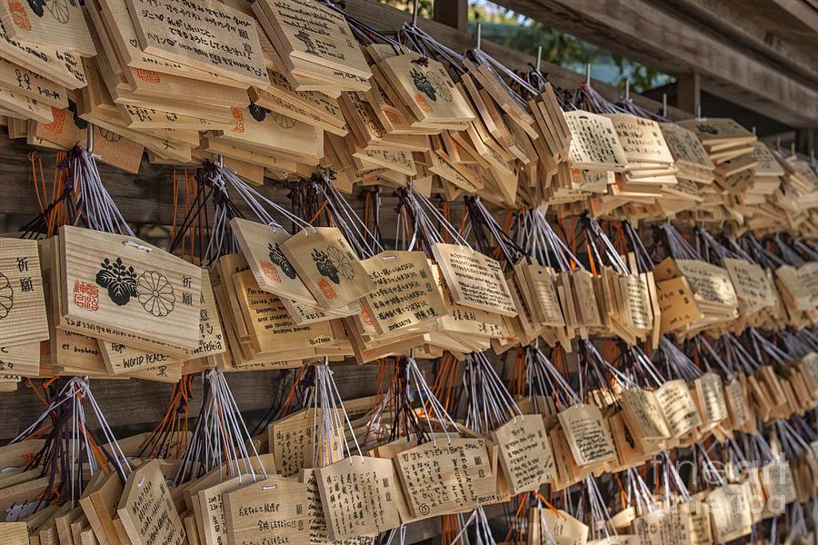 Japanese Ema Prayer Tablets Photograph