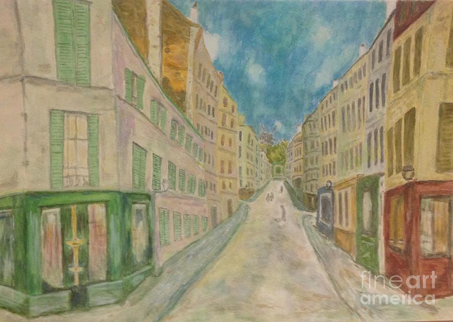 French Landscapes Painting - Japanese Eyes And Utrillo by Sawako Utsumi