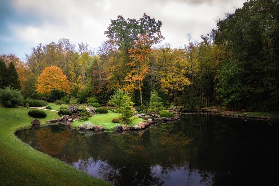 Autumn Photograph - Japanese Garden in Early Autumn by Tom Mc Nemar