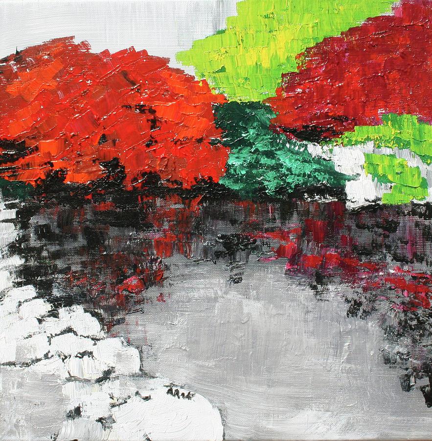 Japanese Painting - Japanese Garden Norfolk Botanical Garden 201818 by Alyse Radenovic