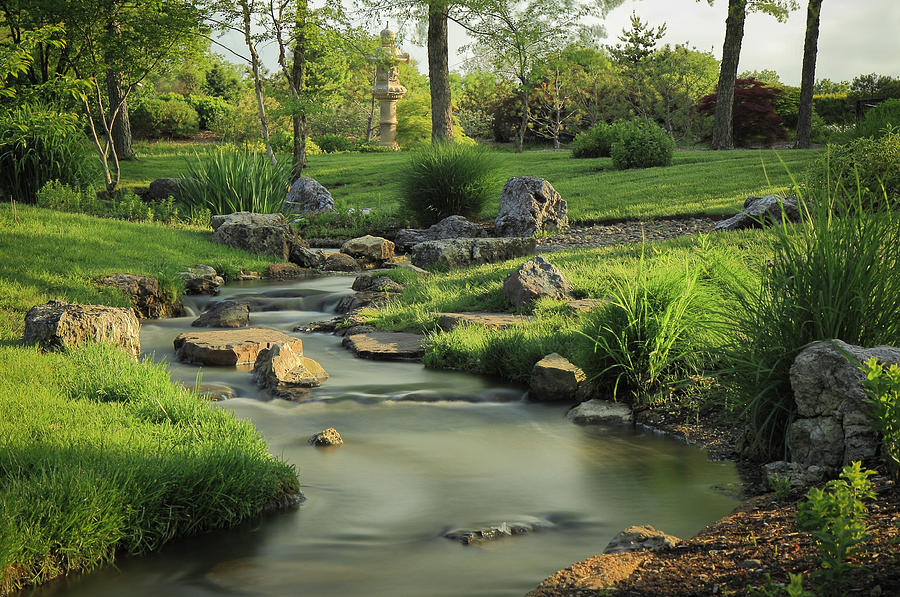 Japanese Garden Stream Photograph By Scott Rackers