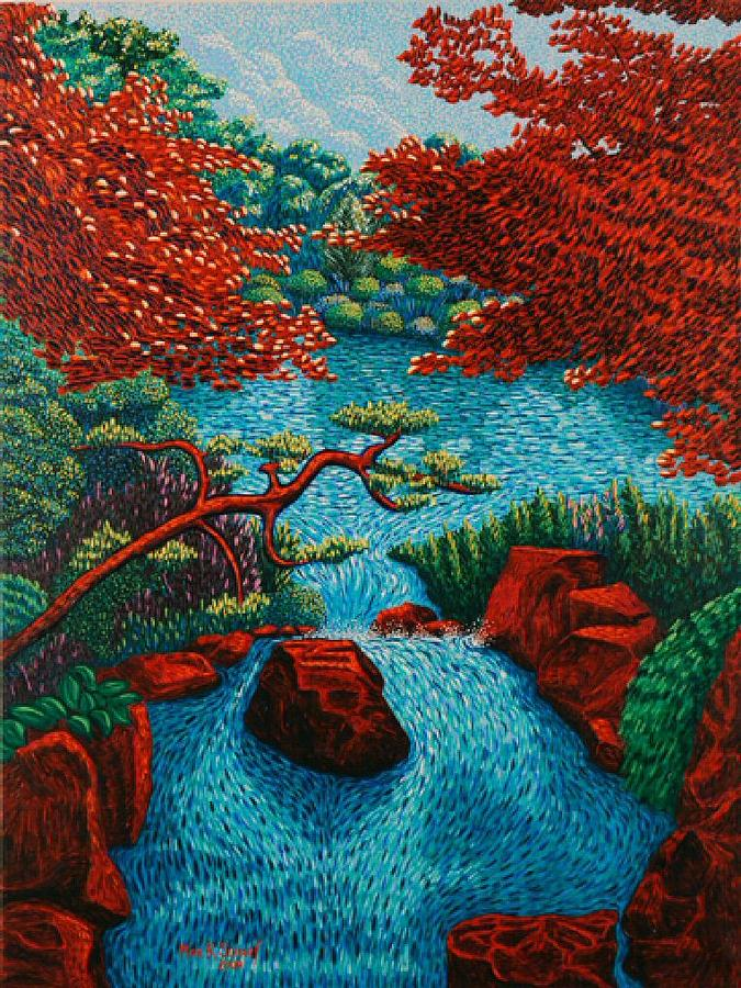 Landscape Painting - Japanese Gardens by Max R Scharf
