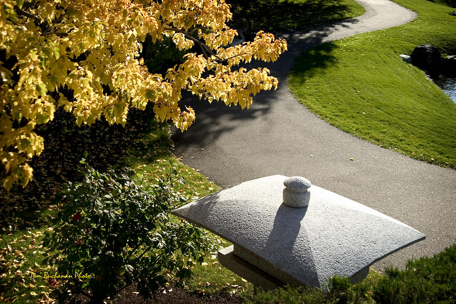 Japanese Garden Photograph - Japanese Lantern by Tom Buchanan
