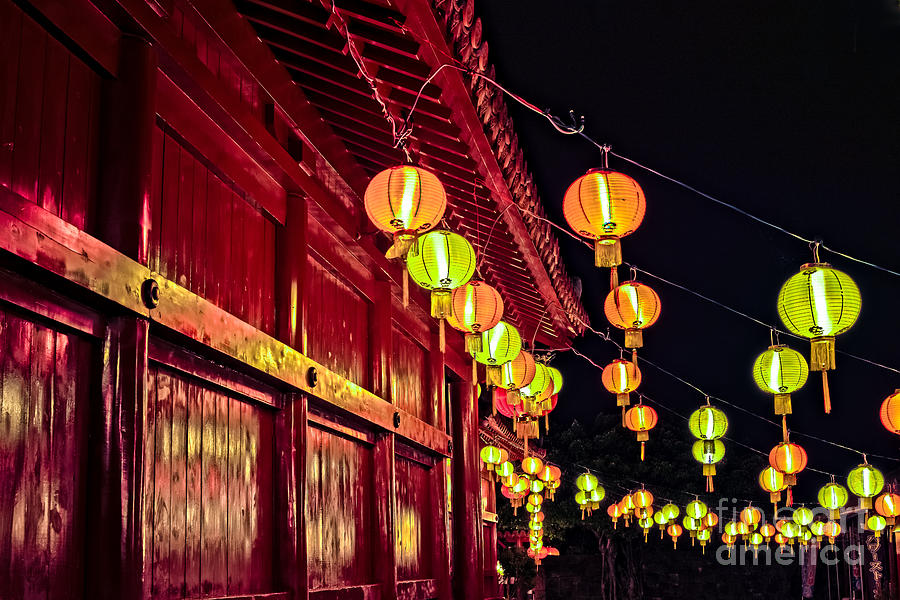 Japanese Lanterns 10 by Steven Hendricks