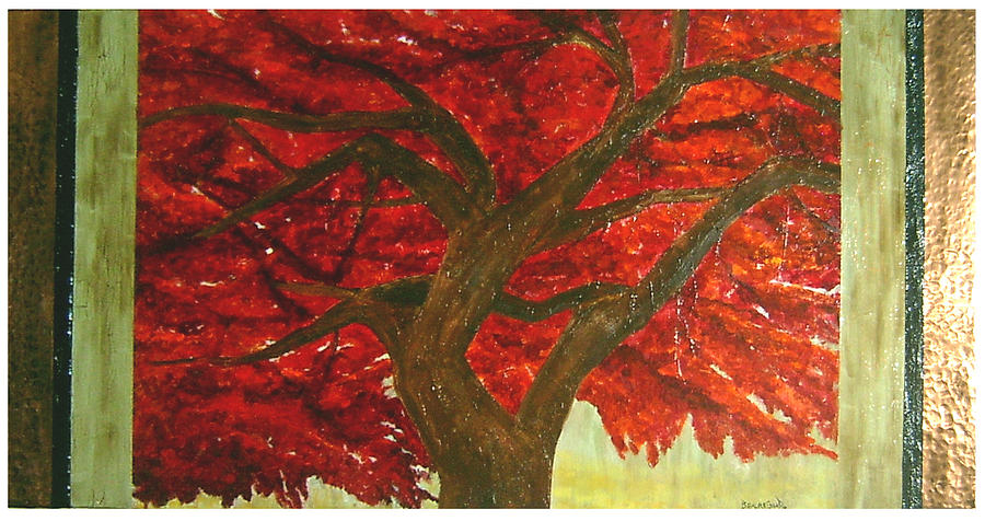 Japanese Maple Painting - Japanese Maple by Ellen Beauregard