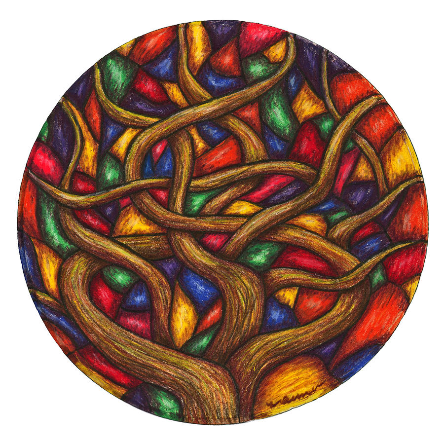 Japanese Maple Painting - Japanese Maple by Maureen Frank The Mandala Lady
