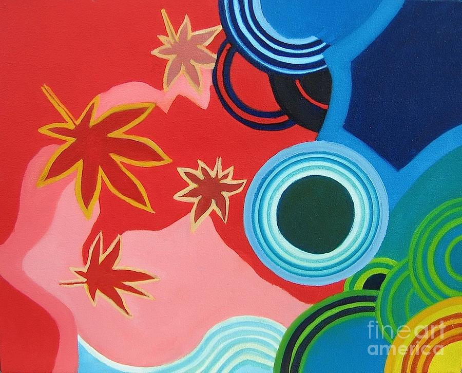 Japanese Maple Painting - Japanese Maple On Water by Takayuki  Shimada