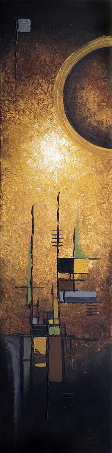 Abstract Painting - Japanese Moon by Mike Irwin