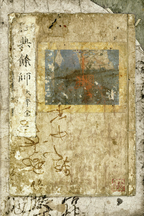 Japan Photograph - Japanese Paperbound Books Photomontage by Carol Leigh