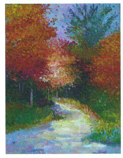 Japanese Path Painting by Martha Sterling Stroman
