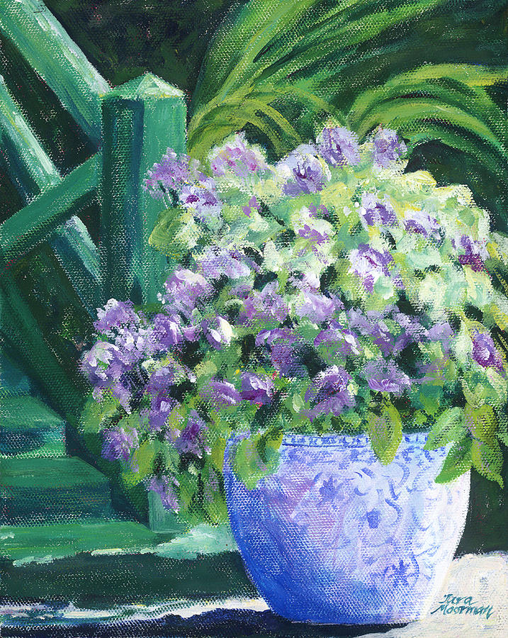 Impressionism Painting - Japanese Pot At Monets Home by Tara Moorman