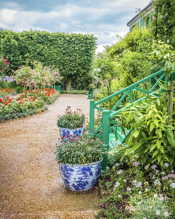 Japanese Pots In Claude Monet\'s Garden, Giverny Photograph by Liesl ...