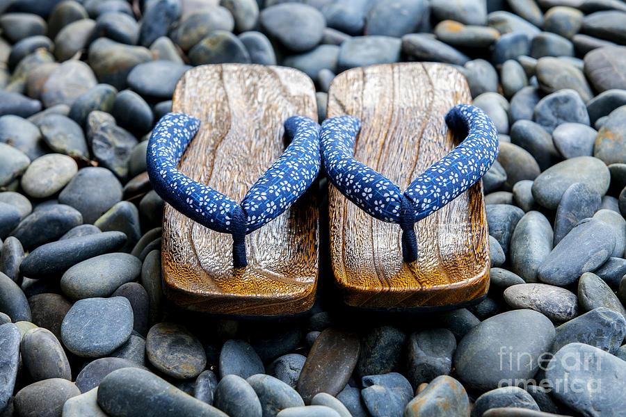 Japan Photograph - Japanese Sandals by Ben Johnson