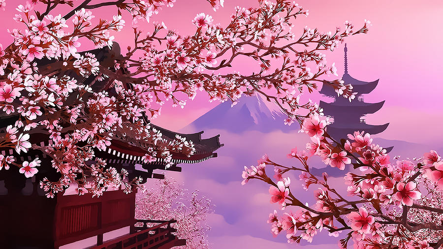 cherry blossom anime wallpaper