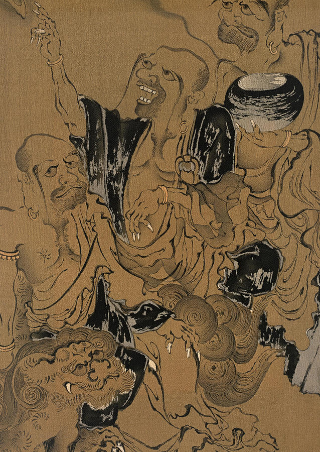 Pop Painting - Japanese Style Hermit Modern Interior Art Painting. by ArtMarketJapan
