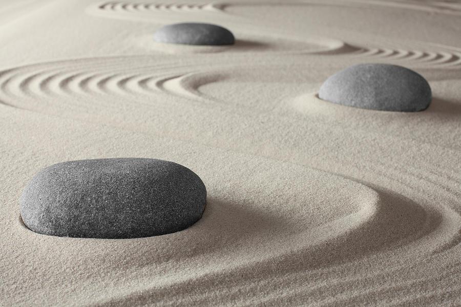 Abstract Photograph - Japanese Zen Garden by Dirk Ercken